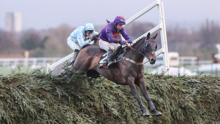 Gas Line Boy on his way to victory in the Grand Sefton Chase in December