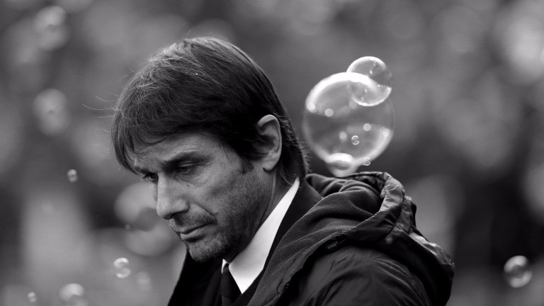 Bubble trouble for Chelsea boss Antonio Conte