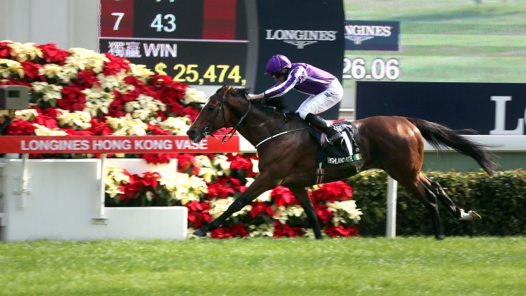 Highland Reel signs off his career with a seventh top-level win in the Hong Kong Vase