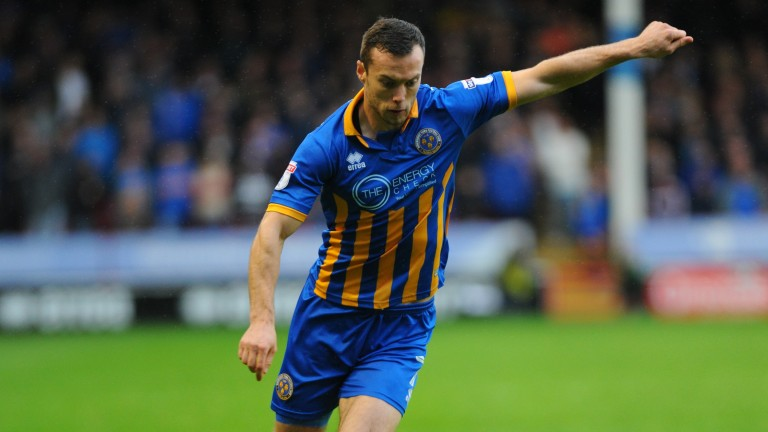 Shrewsbury's Shaun Whalley scored a screamer at MK Dons