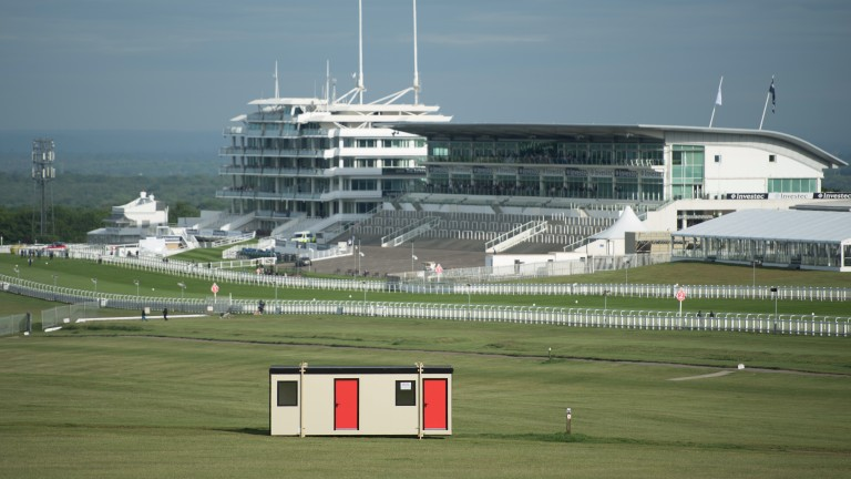 The Hill at Epsom the area sponsored by Poundland during the Derby