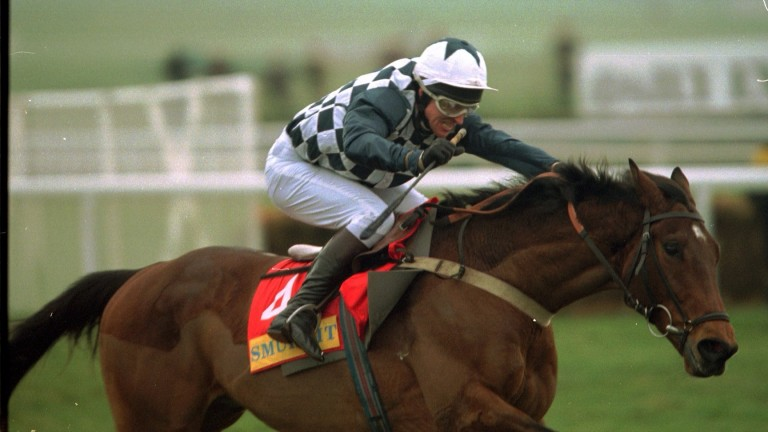 Collier Bay and Graham Bradley on their way to Champion Hurdle success