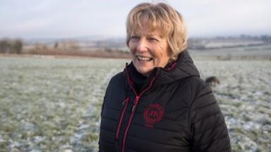 Jessica Harrington on the Commonstown gallops on Monday