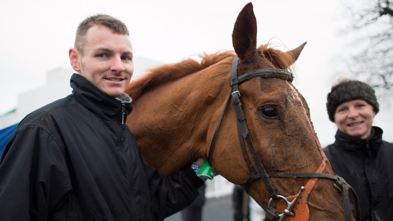 Daniel Steele saddles Footstepsintherain, who is returning from a 609-day absence