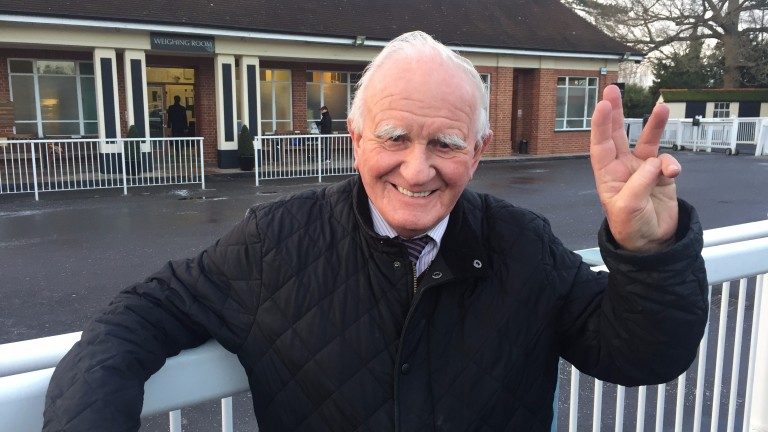 Milton Bradley: saddled three winners at Lingfield