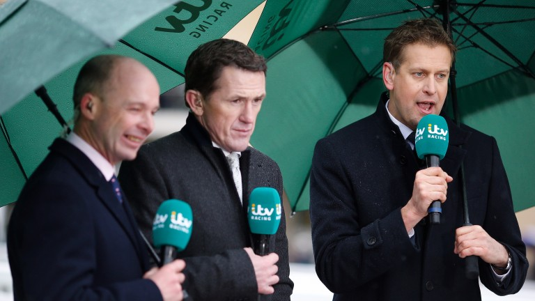 Sir Anthony McCoy, pictured here in his ITV role with Ed Chamberlin (R) and Luke Harvey (L)