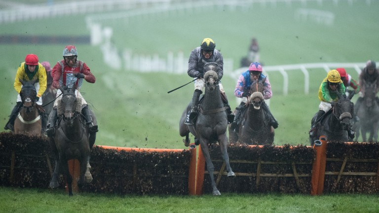 Thomas Campbell (centre) now a player for the Stayers' Hurdle
