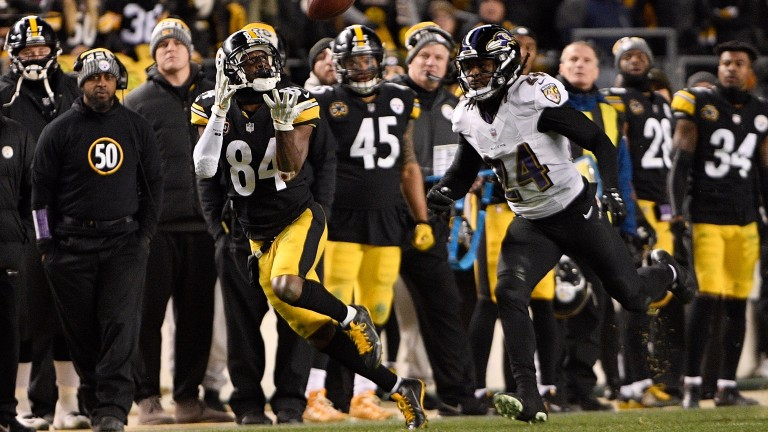 Antonio Brown (84) has been a star turn for the Pittsburgh Steelers