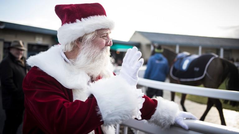 Santa Claus shows his face at Tramore racecourse
