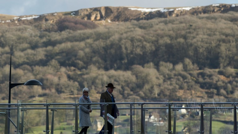 Stunning setting: a sprinkling of snow can still be seen on the top of Cleeve Hill