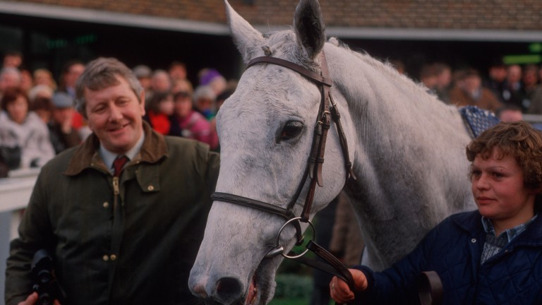 Dessie with trainer David Elsworth after the 1986 King George