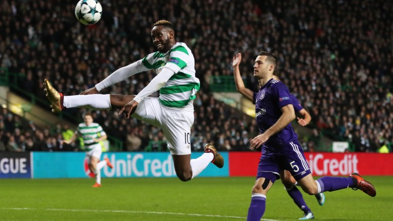 Moussa Dembele of Celtic in Champions League action against Anderlecht