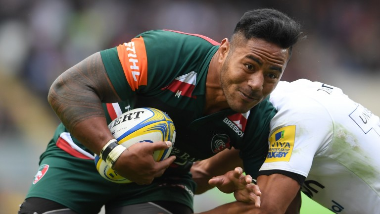 Manu Tuilagi of Leicester in action