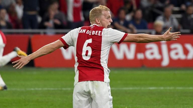 Donny van den Beek of Ajax reacts during a Champions League match