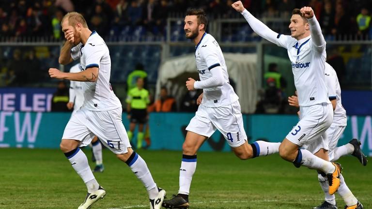Atalanta celebrate a Serie A goal