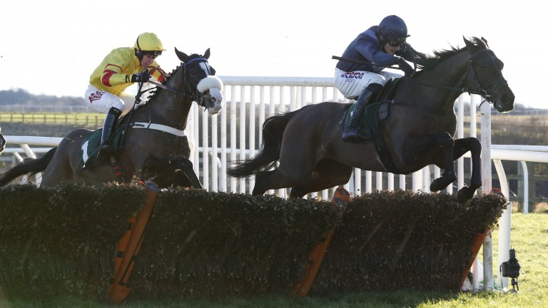 Solo Saxophone: jumps a flight on way to victory at Catterick on Tuesday