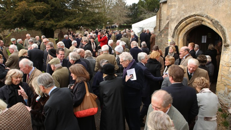 Standing room only: around 600 people attended the service