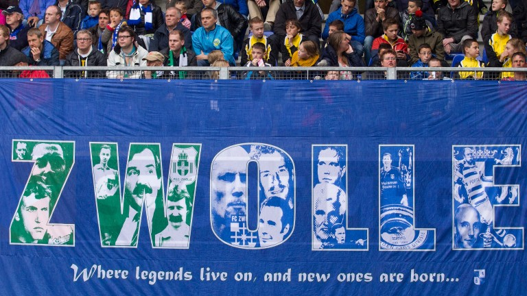PEC Zwolle's fans are thrilled their team are as high as fourth in the Eredivisie