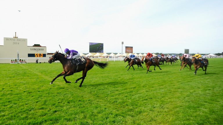 Victor Espinoza and Hootenanny land the Windsor Castle Stakes at Royal Ascot in 2014