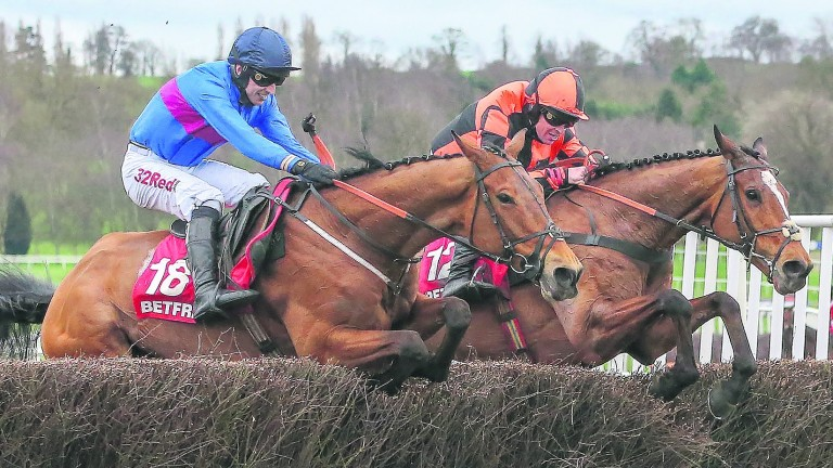 Chase The Spud (left) winning the Uttoxeter highlight last year