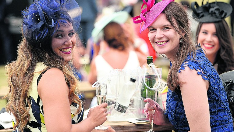 Racegoers in the Royal Ascot village, trumpeted as a great tradition before it had started
