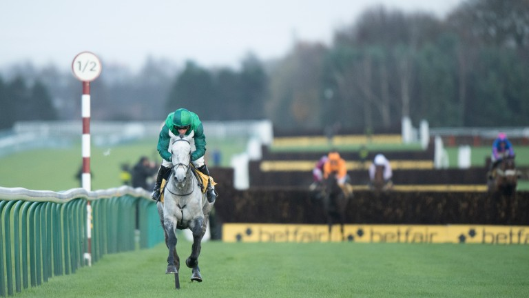 Bristol De Mai draws clear to win the Betfair Chase by 57 lengths