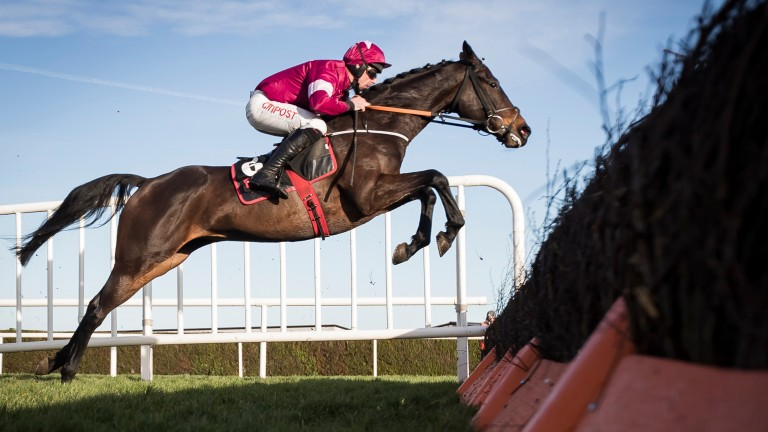 Apple's Jade and Davy Russell on their way to victory in the Squared Financial Christmas Hurdle