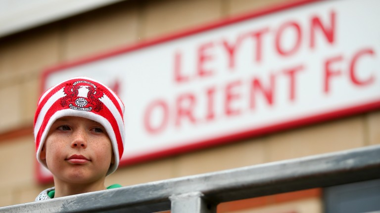 A young Leyton Orient fan checks out the ground
