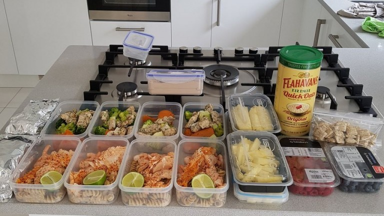 Richard Kingscote's meals for a week, which the jockey prepares in advance