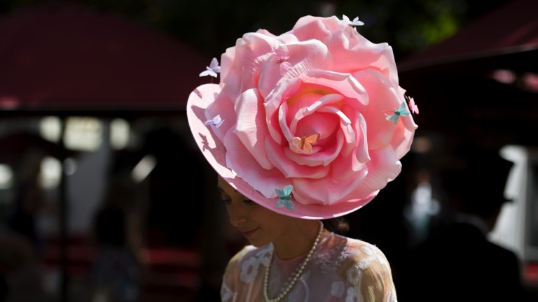 In full bloom: a hat so good you'd think it was the Chelsea Flower Show as the fashion flows at Royal Ascot