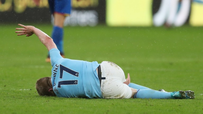 Kevin De Bruyne was injured playing for Manchester City