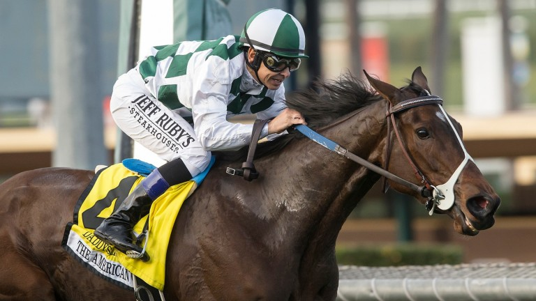 Daddys Lil Darling (Mike Smith), who ran wild at Epsom when she visited Britain for the Oaks in the summer, lands her first Grade 1 success in the American Oaks at Santa Anita