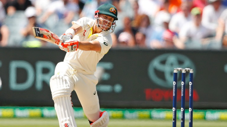 David Warner goes on the attack in the fourth Ashes Test at the MCG