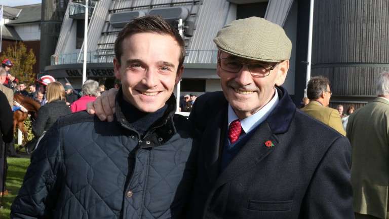 George Chaloner with Malcolm Jefferson at Aintree in October