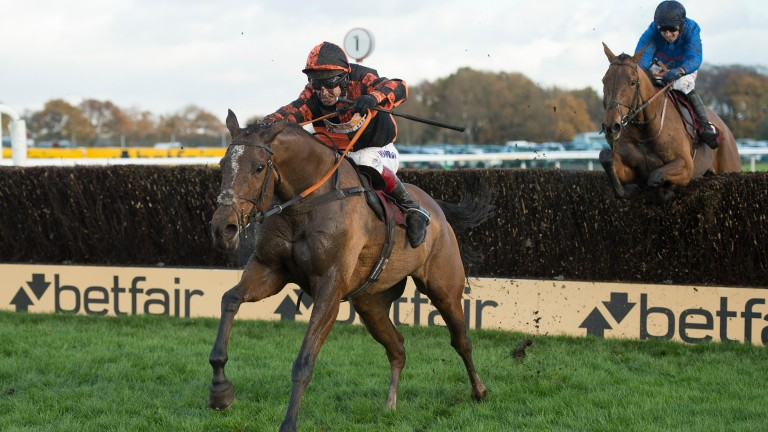 Mysteree beats Welsh National rival Chase The Spud at Haydock last winter