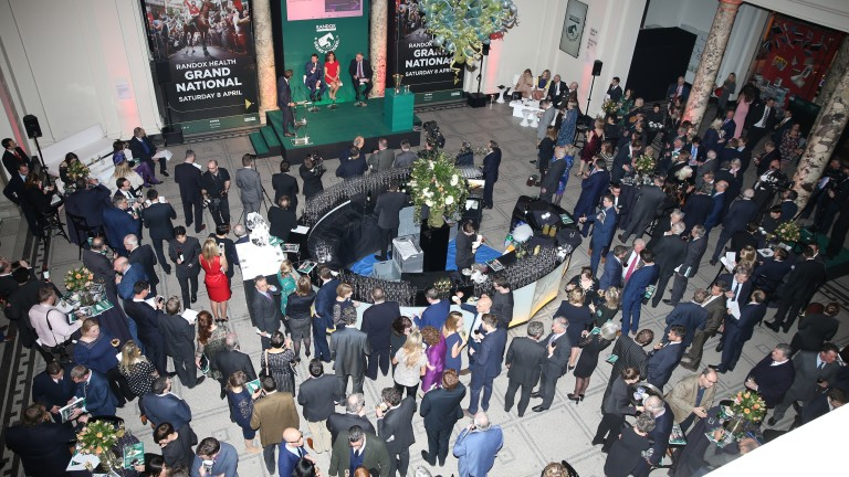 The 2017 Grand National weights ceremony at the Victoria & Albert Museum