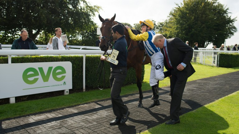Gary Moore gives Tom Queally the leg-up on Sussex Ranger