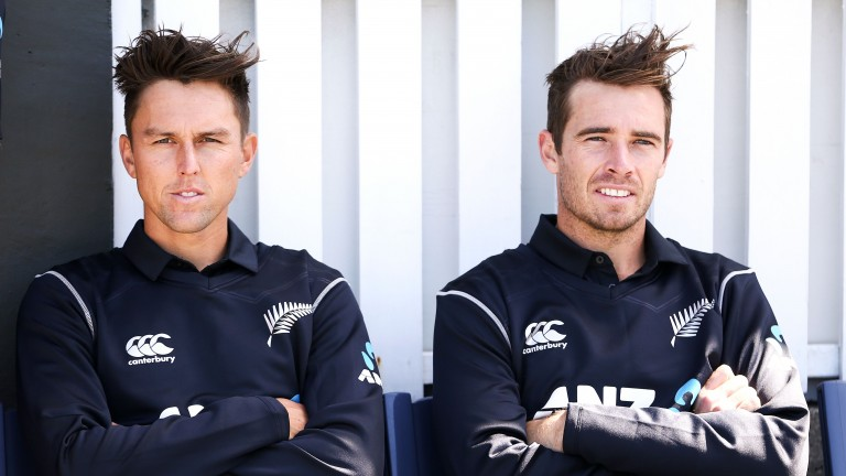 Trent Boult (left) and Tim Southee wrapped up New Zealand's win over Pakistan