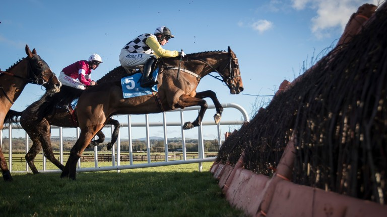 Next Destination (Paul Townend) on his way to winning the Lawlor's Of Naas Novice Hurdle