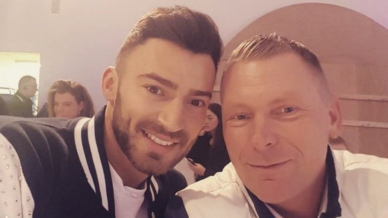Matt Chapman with Dancing On Ice contestant Jake Quickenden