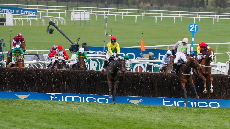 Native River (right) finishes third to Sizing John in the Cheltenham Gold Cup