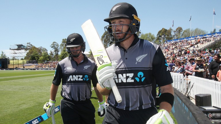 Colin Munro (left) and Martin Guptill are a formidable opening pair for New Zealand