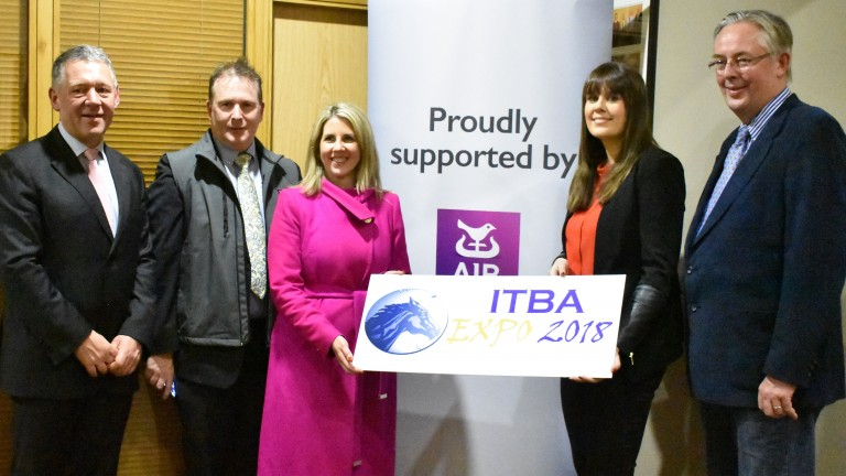 From left to right: Shane O'Dwyer (ITBA chief executive), Patrick Butterly, Aislinn De Barra, Anna O'Connor (AIB) and Stephen Collins (ITBA Chairman)