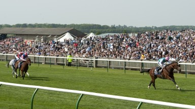 Frankel (Tom Queally) wins the 2000 GuineasNewmarket Guineas Meeting 30.4.11 Pic:Edward Whitaker