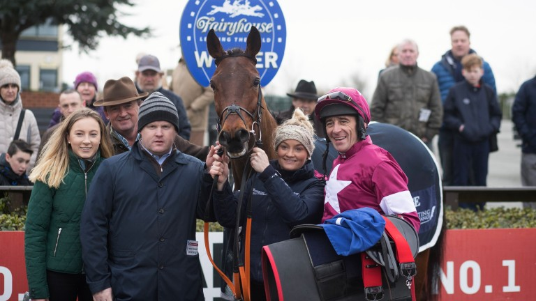 Mitchouka: was badly hampered at Cheltenham and looks to make amends at Fairyhouse