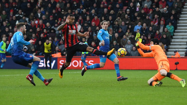 Callum Wilson scores for Bournemouth against Arsenal last season