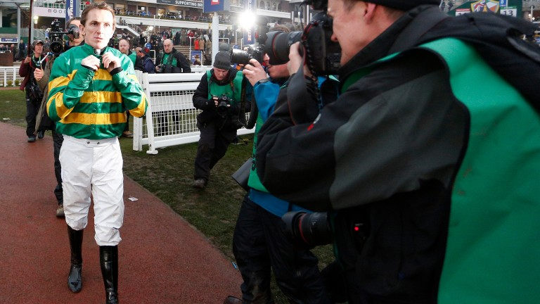Sir Anthony McCoy returns after his final ride at the Cheltenham Festival in March 2015