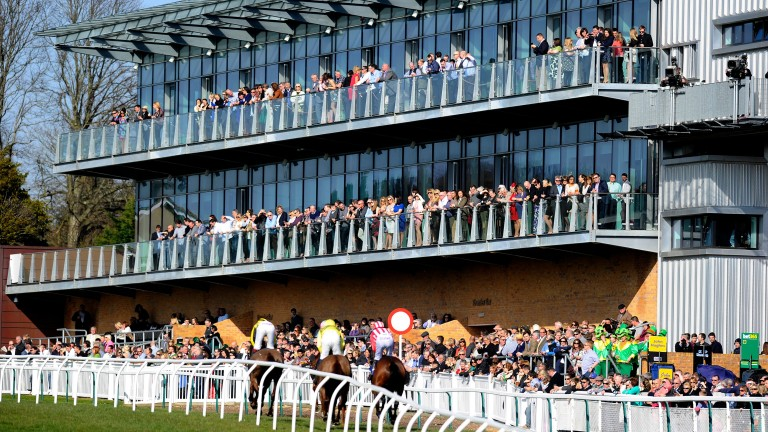 Racegoers enjoy the sport from Fontwell's smart new grandstand