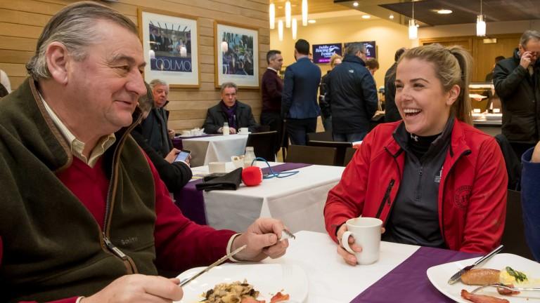 Noel Meade and Kate Harrington share a joke
