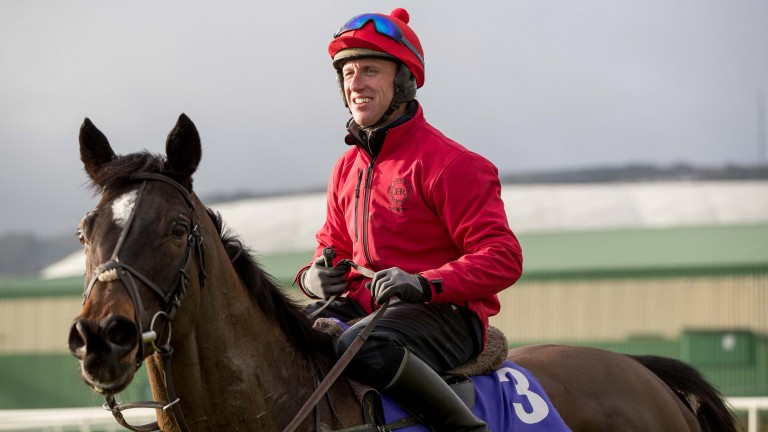 Supadundae and Robbie Power at Tuesday's Morning Mingle at Leopardstown to launch the Dublin Racing Festival